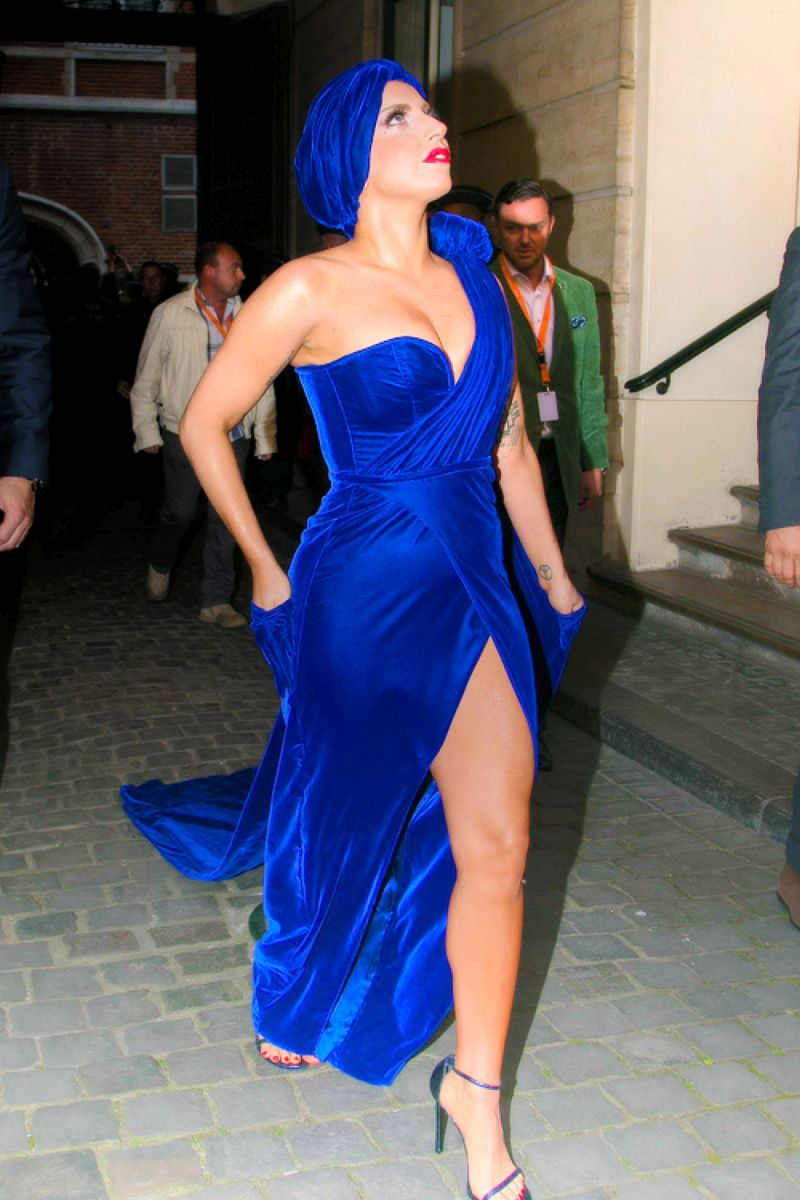 Lady Gaga in blue