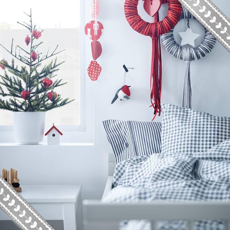 Il natale di ikea decorazioni illuminazioni e tessili - Decorazioni natalizie ikea ...