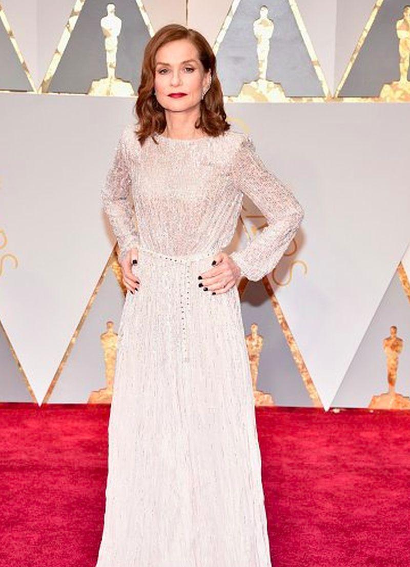 Oscar2017 - Isabelle Huppert - Armani Privé