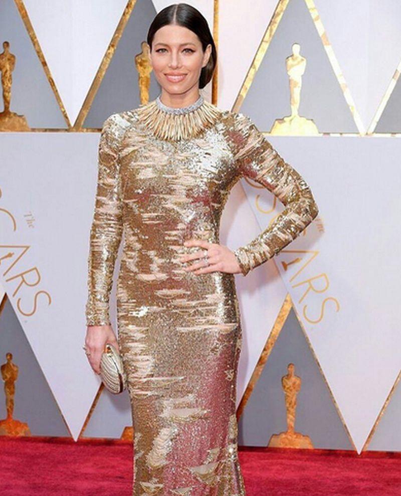 Oscar 2017 -Jessica Biel Kaufman Franco
