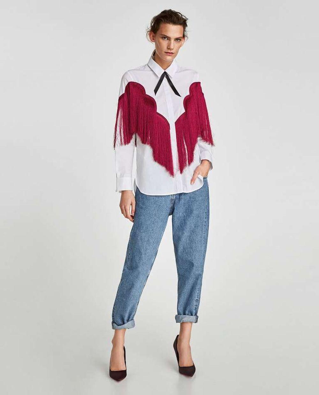 ... Camicia Frange Rosse Zara Cappotto ... ffc691105429