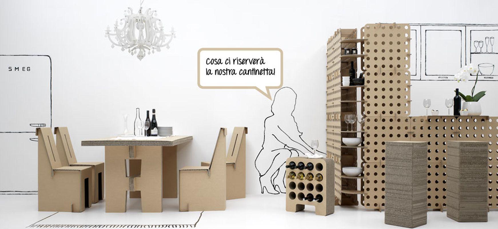 Foto mobili kshop in cartone ondulato velvet style velvetstyle - Mobili in cartone ...