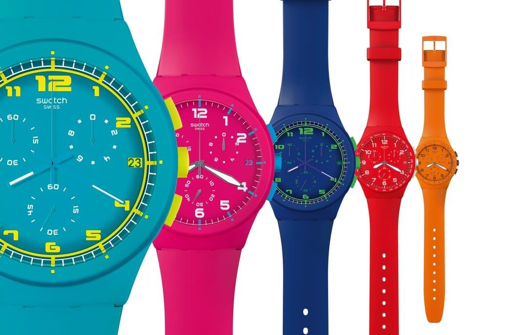 orologio colorato swatch