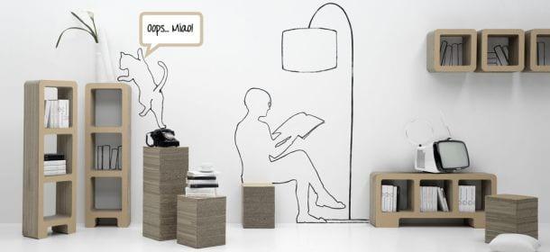Kshop il design di cartone per tutti velvet style - Mobili in cartone design ...