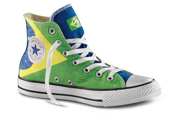 converse bandiera brasile