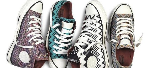 finest selection 98f15 ebd12 Converse e Missoni insieme: arrivano le scarpe a zig zag ...