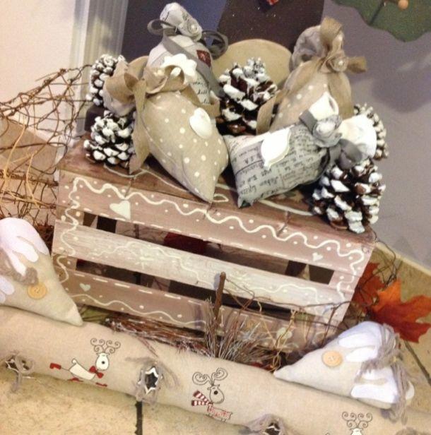 Natale in stile shabby 5 idee per un risultato ultra chic - Decorazioni natalizie con legno ...