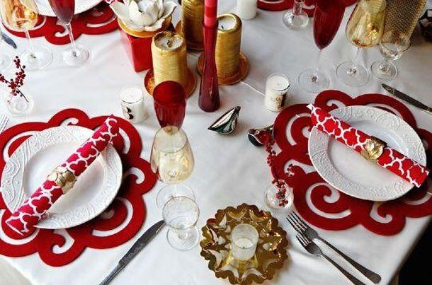 La tavola di natale come apparecchiarla in modo originale - Tovaglie da tavola di natale ...