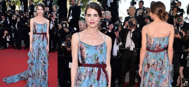 Charlotte Casiraghi a Cannes: incanto di fiori primaverili in Gucci
