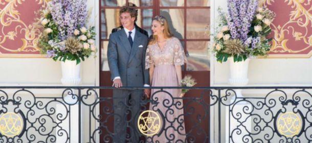Beatrice Borromeo sposa: abito Valentino rosa, fra pizzi e fiori di campo