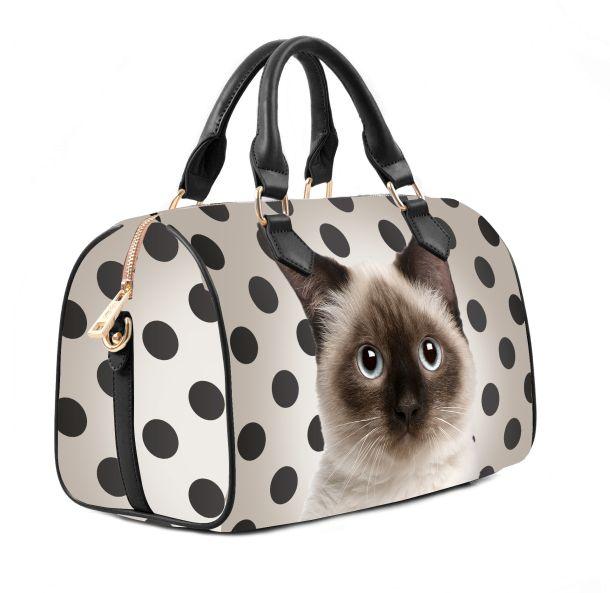 Borse Firmate Per Cani : Manie bag linea animal gatti disegnati su borse e