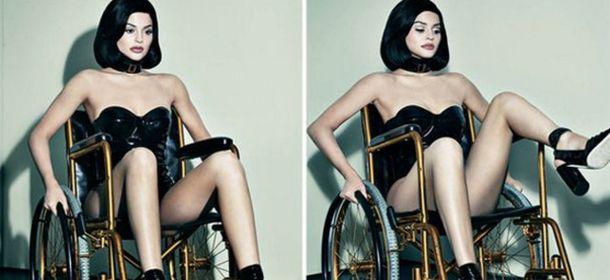 Kylie jenner sulla sedia a rotelle per la copertina di for Fisico sedia a rotelle