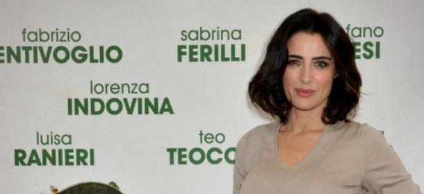 Luisa Ranieri sceglie Trussardi per la conferenza stampa di Forever Young