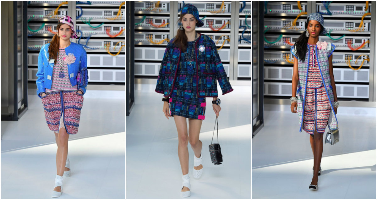 Parigi Fashion Week: Chanel, i robot con i tailleur in tweed e la sfilata futurista