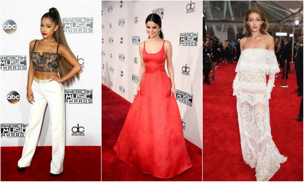 Selena Gomez, Gigi Hadid, Ariana Grande: i look sul red carpet degli American Music Awards 2016