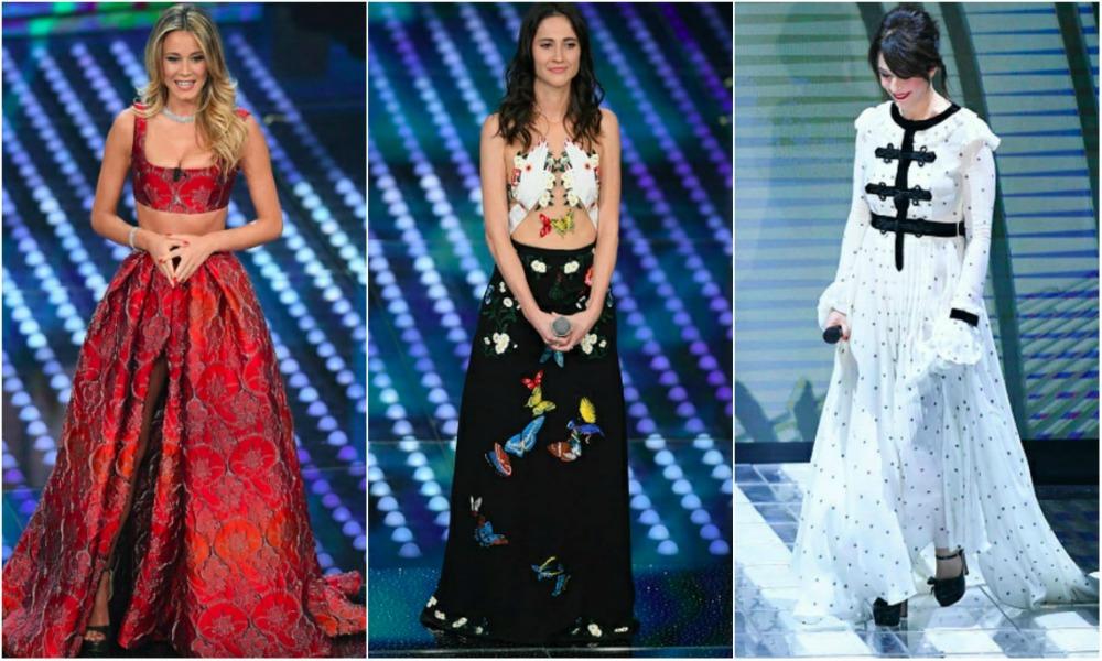 Prima serata di Sanremo 2017: i look dei Big e degli ospiti