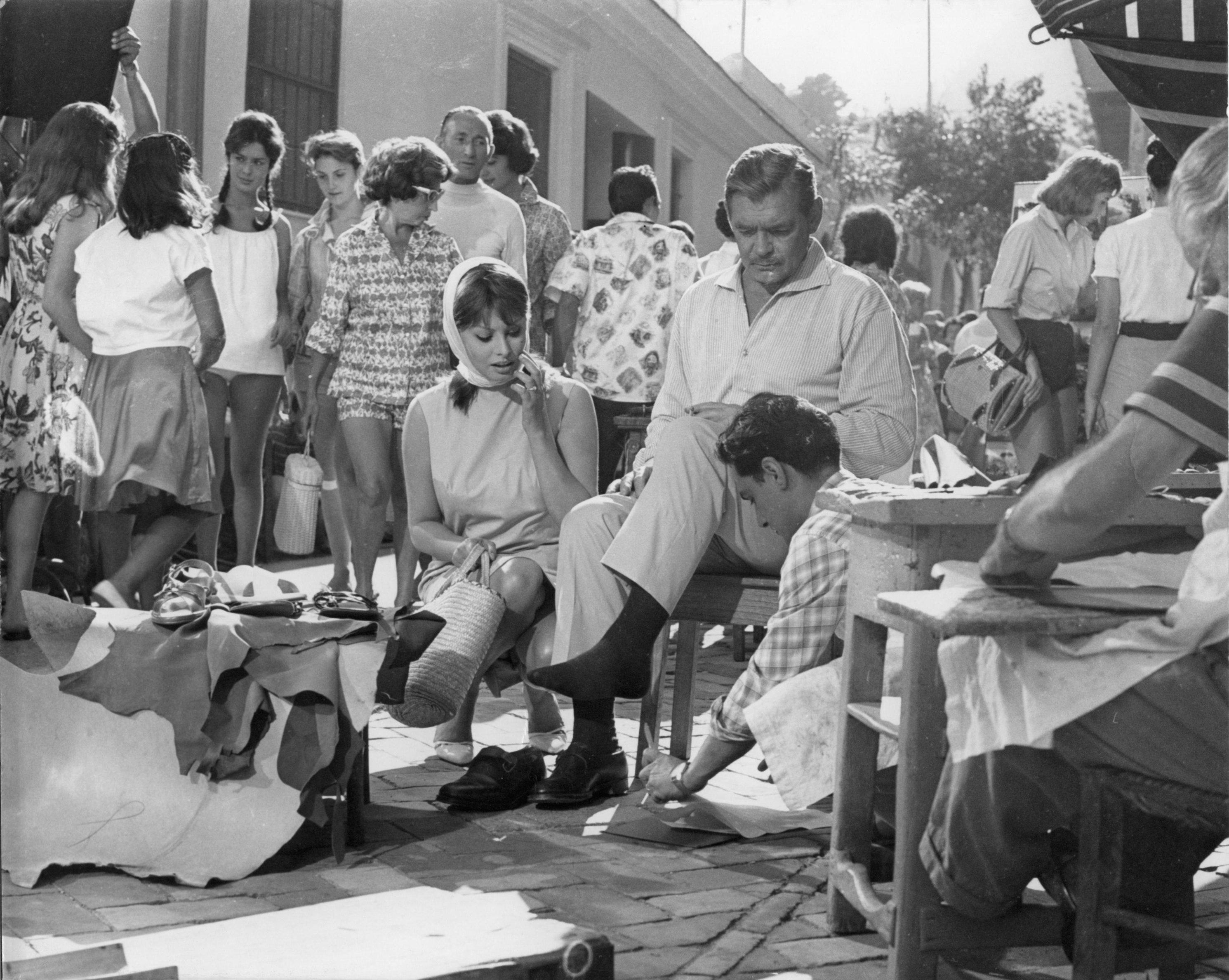 Capri, 1959, Da Costanzo, Sophia Loren e Clark Gable