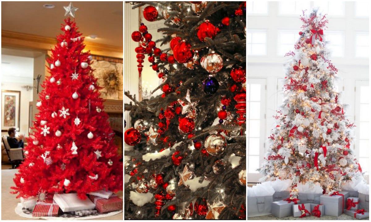 Albero Natale Decorato Rosso alberi di natale 2017: idee, tendenze, decorazioni - velvetstyle