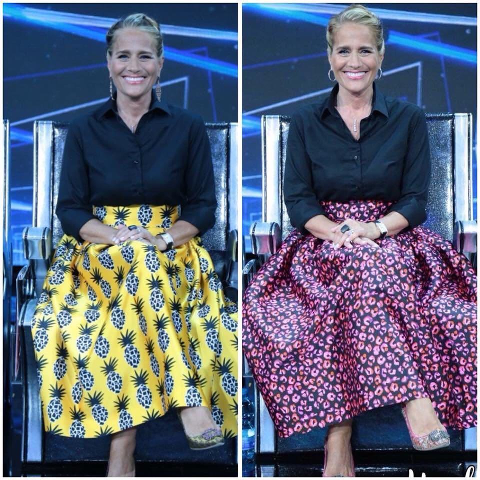 molto carino 19a35 f38c6 Heather Parisi veste Giada Curti, ecco il brand delle gonne ...