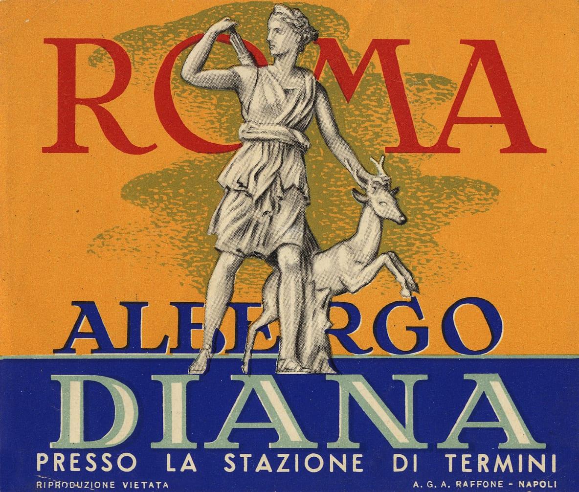 Il vecchio logo dell'Hotel Diana